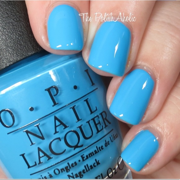 Opi Nail Makeup Fearlessly Alice Blue Nail Color